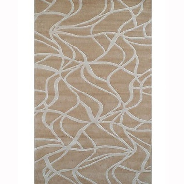 American Home Rug Co. Kinetic Beige/Ivory Rug; 5' x 8'