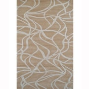 American Home Rug Co. Kinetic Beige/Ivory Rug; 8' x 11'