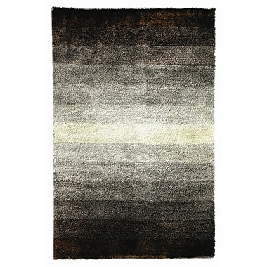 Noble House Jewel Brown/White Rug; 5' x 8'
