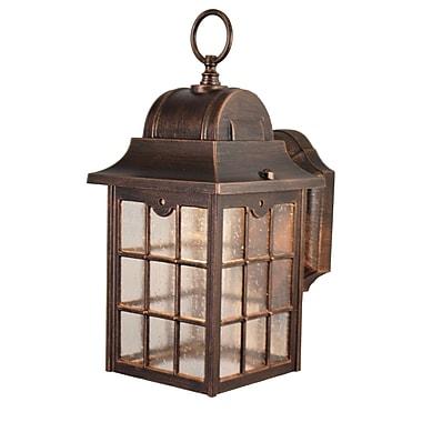 Melissa Kiss Series 1-Light Outdoor Wall lantern; Old Bronze