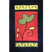 American Home Rug Co. Bright A Single Flower Area Rug; 3'6'' x 5'6''