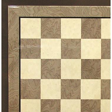 Ferrer 17'' Briar Glossy Chess Board in Grey / Ivory Glossy