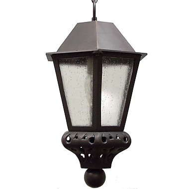 Melissa Tuscany 1-Light Outdoor Hanging Lantern; Patina Bronze
