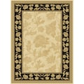 Central Oriental Radiance Francesca Wheat/Black Rug; Runner 2'3'' x 7'1''