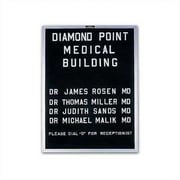 Marsh Open Face Wall Mounted Enclosed Letter Board; 36'' H x 60'' W