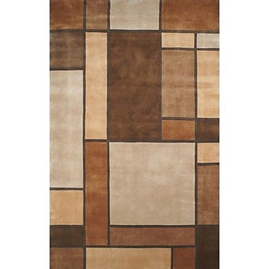 American Home Rug Co. Casual Contemporary Beige / Brown Metro Area Rug; 8' x 11'