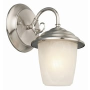 Design House Millbridge 1 Light Outdoor Downlight Wall Lantern; Satin Nickel