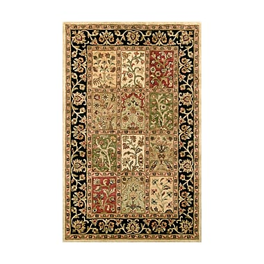 Noble House Harmony Multi/Black Floral Area Rug; 8' x 11'