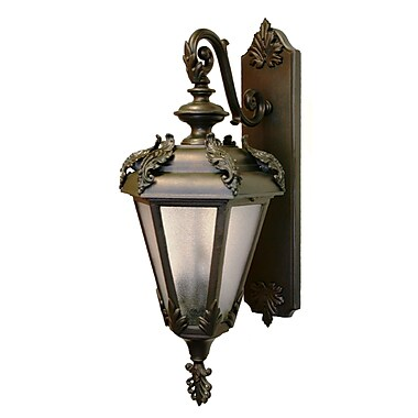 Melissa Parisian Elegance 3 Light Outdoor Wall Lantern; Old Iron