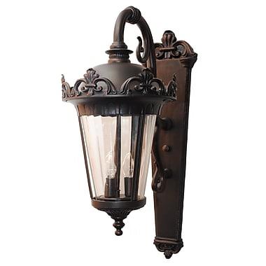 Melissa Parisian Elegance 3-Light Outdoor Wall Lantern; Old Iron