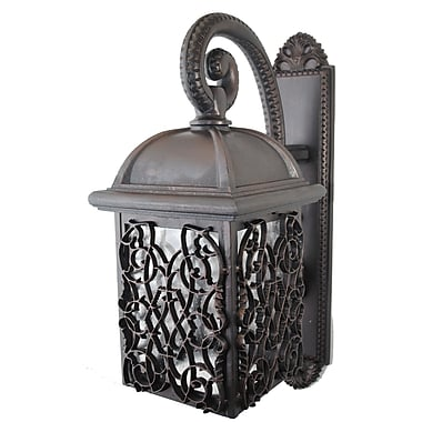 Melissa Americana 1 Light Outdoor Wall Lantern; Black