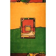American Home Rug Co. Bright Yellow/Green Fields Area Rug; 3'6'' x 5'6''