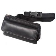 Winn International Leather Mini-Fanny Pack; Black