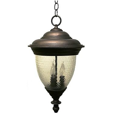 Melissa Tuscany 4 Light Outdoor Hanging Lantern; Patina Bronze