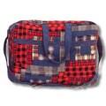 Patch Magic Red Log Cabin Shoulder Bag