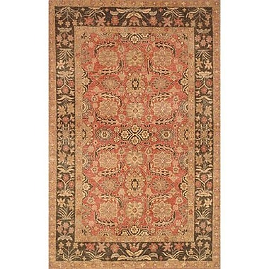 American Home Rug Co. Village Rose/Brown Turkman Area Rug; 8'6'' x 11'6''
