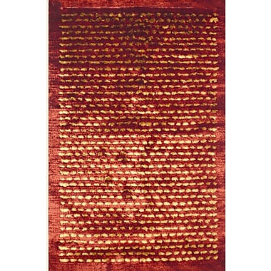 Meva Rugs Royal Shag Rust/Gold Rug; 5' x 7'7''