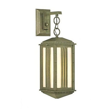 Melissa Parisian Elegance 1 Light Outdoor Wall Lantern; White