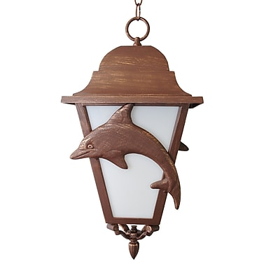 Melissa Americana 3 Light Outdoor Hanging Lantern; Architectural Bronze