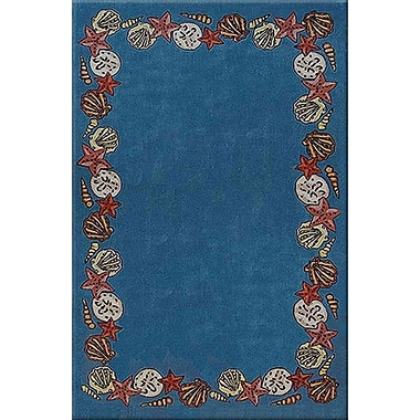 American Home Rug Co. Beach Rug Blue Coral Reef Novelty Rug; Round 8'