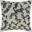 India's Heritage Felt Numbers Pillow; Black / White