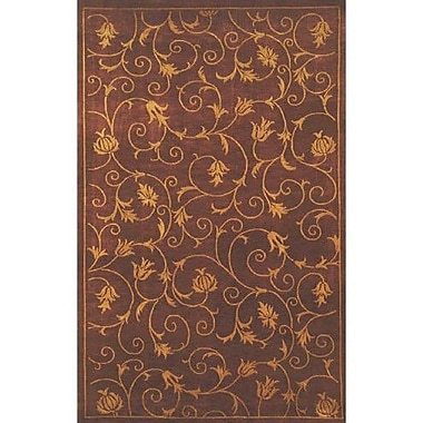 American Home Rug Co. Neo Nepal Wine French Scrolls Rust Area Rug; 3'6'' x 5'6''