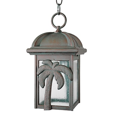 Melissa Americana 1 Light Outdoor Hanging Lantern; Old Copper