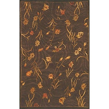 American Home Rug Co. Neo Nepal Garden Flowers Brown Floral Area Rug; 5'6'' x 8'