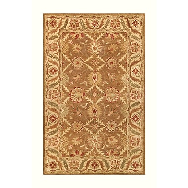 Noble House Golden Gold/Beige Area Rug; 5' x 8'