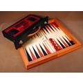 Checkmate Wood Flat Backgammon Game in Red / Black