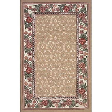 American Home Rug Co. Bucks County Autumn/Ivory Damask Area Rug; 3'6'' x 5'6''