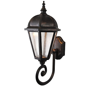 Melissa Kiss Series 1-Light Outdoor Sconce; Old Copper