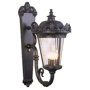 Melissa Parisian Elegance 3 Light Outdoor Sconce; Old Bronze