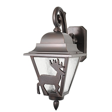 Melissa Americana 1 Light Outdoor Wall Lantern; Old Bronze