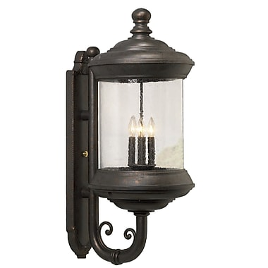 Melissa Tuscany 4-Light Outdoor Sconce; Old Iron