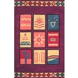 American Home Rug Co. Bright Rug Purple Sizzle Novelty Rug; 5' x 8'