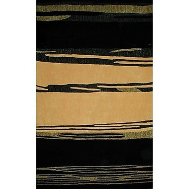 American Home Rug Co. Bright Horizon Yellow/Black Area Rug; Round 8'