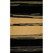 American Home Rug Co. Bright Horizon Yellow/Black Area Rug; 8' x 11'