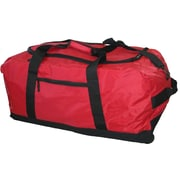 McBrine Luggage 30'' Large 2-Wheeled Travel Duffel; Red