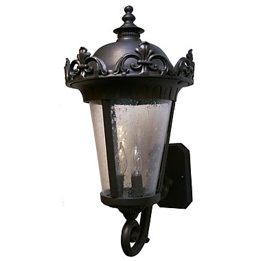 Melissa Parisian Elegance 3 Light Outdoor Sconce; Old Copper