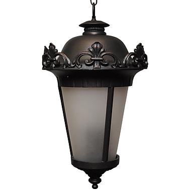 Melissa Parisian Elegance 4-Light Outdoor Hanging Lantern; Aged Silver