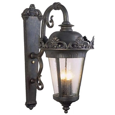 Melissa Parisian Elegance 4 Light Outdoor Wall Lantern; Rusty Nail