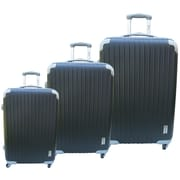 McBrine Luggage Eco-friendly 3 Piece Hardsided Spinner Luggage Set; Black