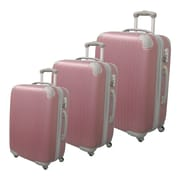 McBrine Luggage Eco-friendly 3 Piece Hardsided Spinner Luggage Set; Rose