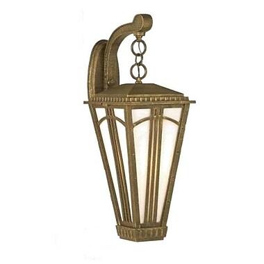 Melissa Parisian Elegance 1 Light Outdoor Wall Lantern; Old Bronze