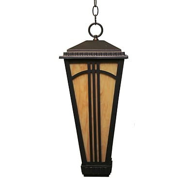 Melissa Parisian Elegance 2-Light Outdoor Hanging Lantern; Black