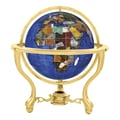 Alexander Kalifano 13'' Commander Caribbean Globe with Three Leg Stand in Gold