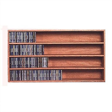 Wood Shed 400 Series 472 CD Wall Mounted Multimedia Storage Rack; Unfinished