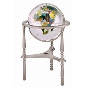 Alexander Kalifano 17'' Ambassador Opal Globe with Three Leg High Stand in Silver