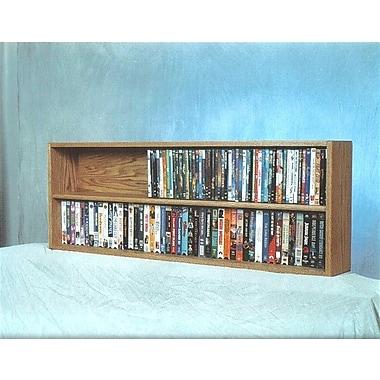 Wood Shed 200 Series 176 DVD Multimedia Tabletop Storage Rack; Dark